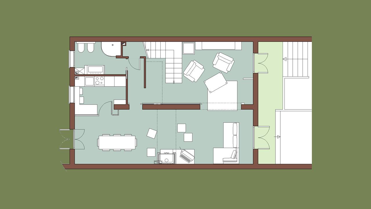 01 casa b04 piano terra ap a studio architetti associati for Piani casa economicamente efficienti