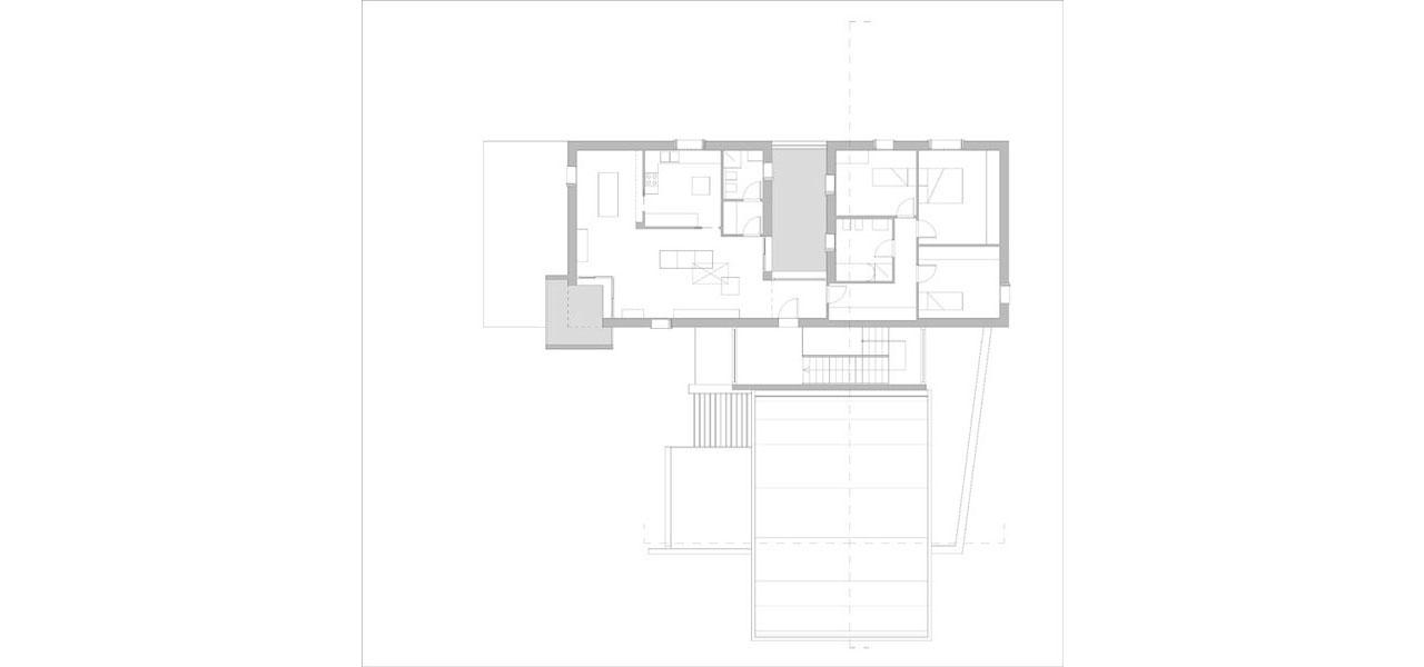 Casa M10 Planimetria del piano secondo. Alloggio all