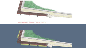 Concorso ALT-Stazione San Giovanni in Persiceto Arredi Aiuola centrale e seduta perimetrale