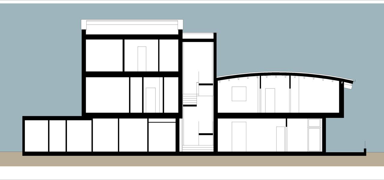 Casa M10 Sezione trasversale.