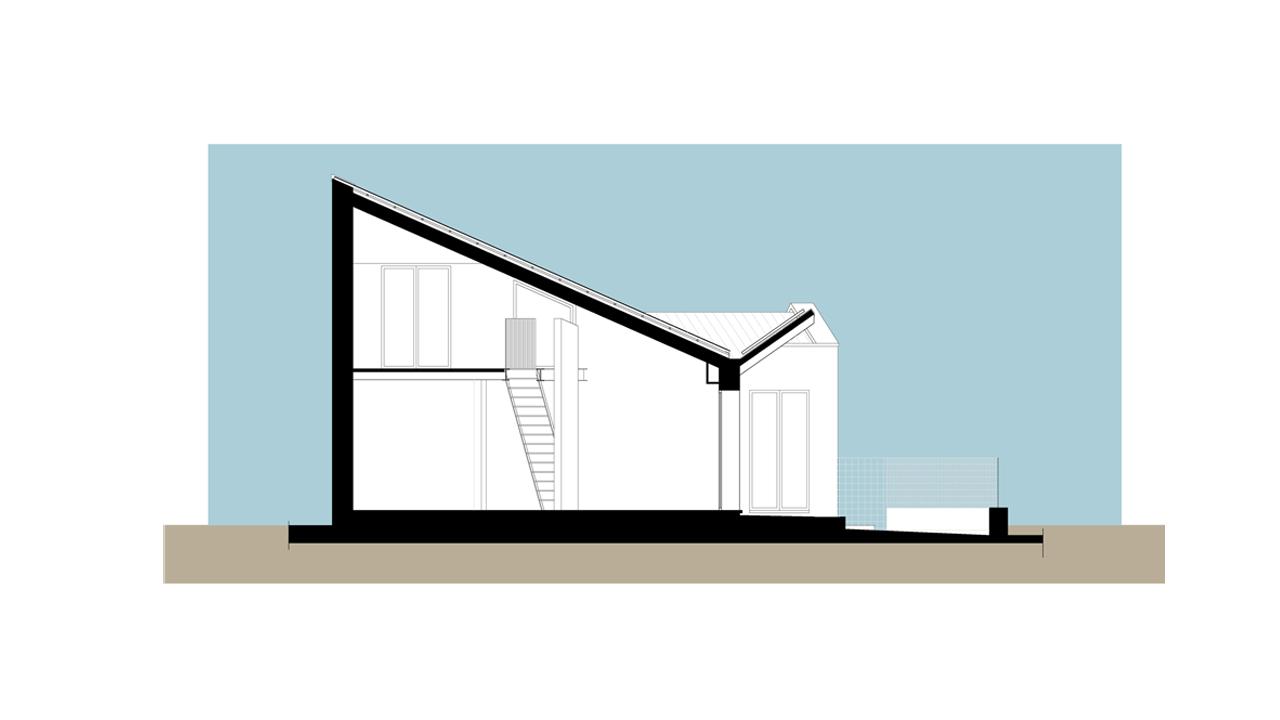 Casa Bi-Sezione trasversale