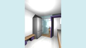Casa P13-Render di studio Cucina