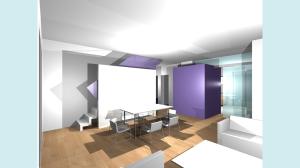 Casa P13-Render di studio Soggiorno1