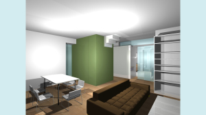 Casa P13-Render di studio Soggiorno2