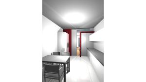 Casa P13-Rendering realizzato Cucina