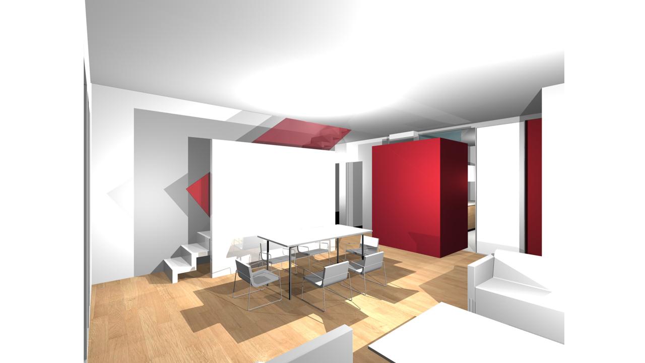 Casa P13-Rendering realizzato Soggiorno2