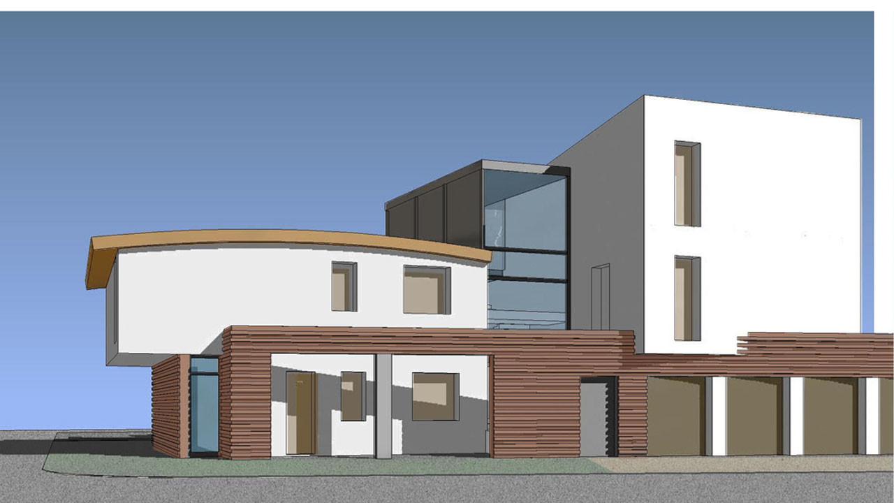 Casa M10 Prospettiva renderizzata. Vista dall