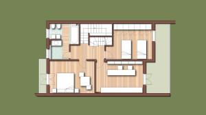 Casa B04 Pianta piano primo