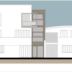 Casa M10 Prospetto interno. Lato sud.